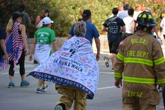 Tunnel to Towers memorial run. royalty free stock image