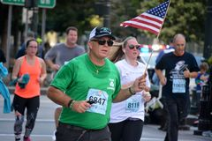 Tunnel to Towers memorial run. stock image