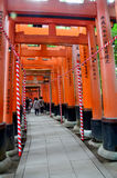 Tunnel of torii gates at Fushimi-Inari Shrine Royalty Free Stock Photos