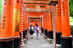 Tunnel of torii gates at Fushimi-Inari Shrine Stock Photography