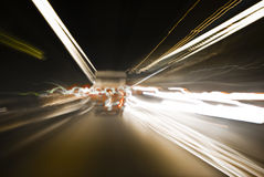 Tunnel Traffic - Speed Motion Capture stock photo