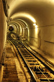 Tunnel with the train Royalty Free Stock Image