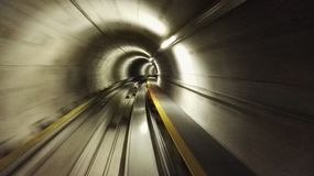 Tunnel. Tube dark speed railway line royalty free stock images