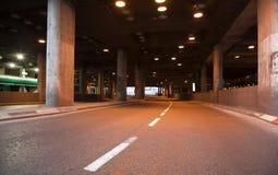 Street Tunnel. The tunnel under Atarim Square in HaYarkon street in Tel-Aviv, Israel. Shot at dusk stock photography