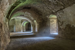 Tunnel under bastion fortress complex. Royalty Free Stock Photo