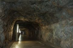 Old tunnel under the castle royalty free stock photos