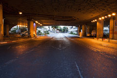 Street Tunnel at Dawn Stock Photo