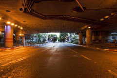 Street Tunnel at Dawn Royalty Free Stock Photos