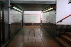 Tunnel under drevstation royaltyfria bilder