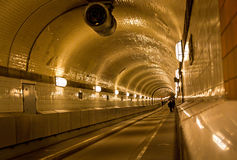 Tunnel under the Elbe river in Hamburg, Germany Royalty Free Stock Photo