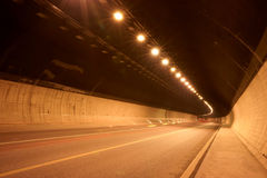 Tunnel under the ground. Was taken in chongqing of china,a traffic tunnel under the ground Stock Photo