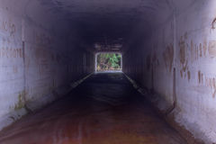 Tunnel under the road Stock Photo