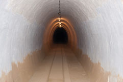 Tunnel in the underground bunker Royalty Free Stock Images