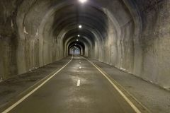 In the tunnel - underground road Royalty Free Stock Photography