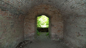 Tunnel underpass. A underpass, catacomb hidden in the forrest Stock Photo