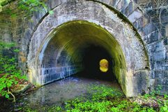 1914 Tunnel in Upstate New York. Tunnel creek upstate ny water river marcellus syracuse CNY water Stock Image