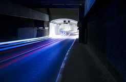 Tunnel  - Urban highway road tunnel Stock Photography