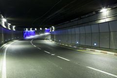 Tunnel  - Urban highway road tunnel Royalty Free Stock Photo