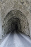 Tunnel used by the quarrymen of marble Royalty Free Stock Image