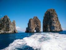 Tunnel van Liefde in Capri-eiland Stock Foto's