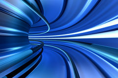 Tunnel of velocity. Blue tunnel of high velocity speed movement Stock Photography