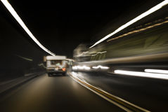 Tunnel-Verkehr - wechselnder Winkel Stockbild