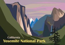 Tunnel View Landscape, Yosemite National Park Royalty Free Stock Image