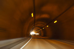 TUNNEL VIEW. From low speed car Royalty Free Stock Photos