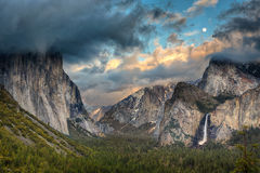 Tunnel View with Moon Rise Royalty Free Stock Photo