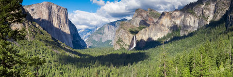 Tunnel View panorama Royalty Free Stock Photo