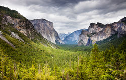 Tunnel view yosemite Stock Photo