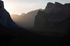Tunnel view Yosemite Stock Photography