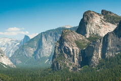 Tunnel view in yosemite national park Stock Photos