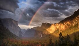 Free Tunnel View Yosemite National Park Stock Photography - 220954382