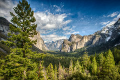 Tunnel View in Yosemite National Park Stock Photography
