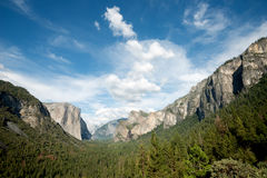 Tunnel View, Yosemite National Park, California Stock Images