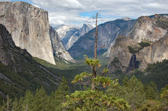 The Tunnel View, Yosemite National Park stock image