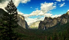 Tunnel view in yosemite national park, california usa royalty free stock photo
