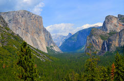 Tunnel view, Yosemite national park Stock Images
