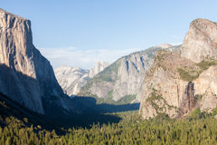 Tunnel view in Yosemite Park. Royalty Free Stock Photography