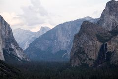 Tunnel View in Yosemite Park Royalty Free Stock Photos