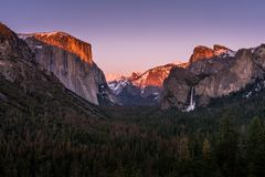 Tunnel View in Yosemite royalty free stock photo