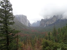 Tunnel View. A view of Yosemite Valley from the Tunnel View Stock Images