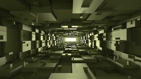 Tunnel virtuale rettangolare Fotografie Stock