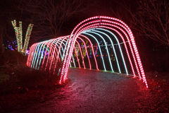 Tunnel Vision Holiday Lights Stock Photos