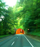 Tunnel Vision. View of tunnel while driving Royalty Free Stock Image