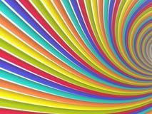 Tunnel von farbigen Linien Stockfoto