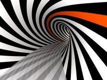 Tunnel von Linien, 3D Lizenzfreie Stockbilder
