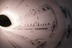 Tunnel von Musik Lizenzfreie Stockbilder