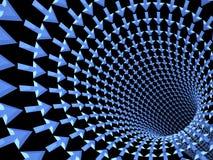 Tunnel von Pfeilen, 3D Stockfoto